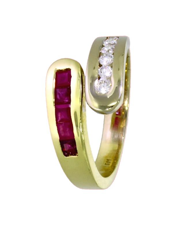 ADIB894-Ring-585-Gold-Brillanten-Rubine