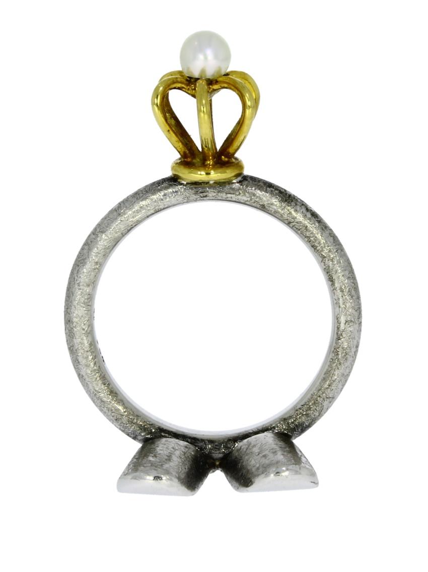 GUG015-Ring-lanz-und-Gloria-Selbstläufer-Silber-Gold