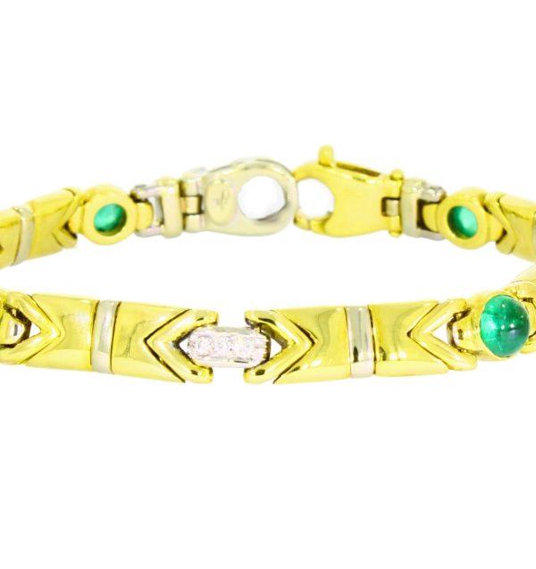 V3789-12-Armband- Smaragde-Brillanten-750-Gold