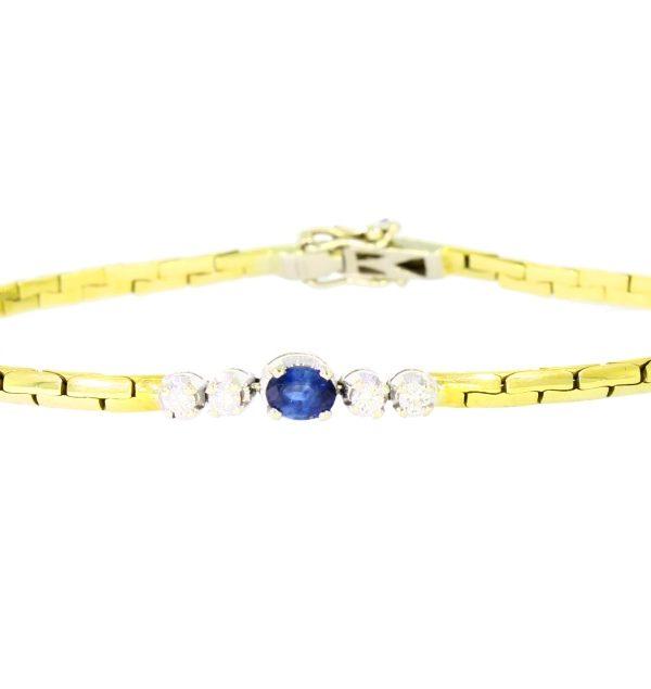 V4034-1-Armband Brillant-Saphire-750-Gold